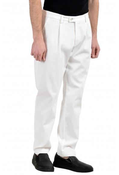 "Hugo Boss ""Riko-Pleats"" Men's White Stretch Casual Pants: Picture 2"