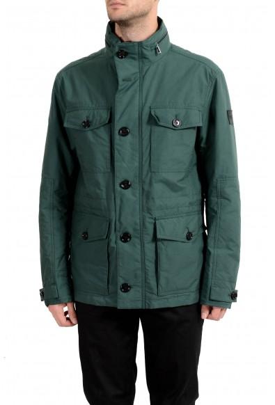 "Hugo Boss ""Cedar3"" Men's Green Full Zip Hooded Jacket"