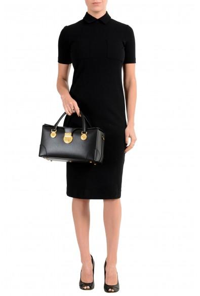 Versace Women's V-Adiona Black Leather Shoulder Bag: Picture 2