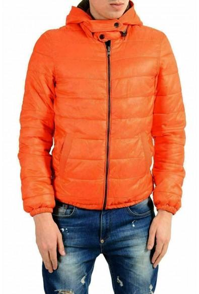 Just Cavalli Men's Full Zip Reversible Hooded Insulated Parka Jacket