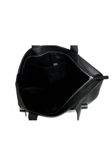 Versace Unisex Black Leather Large Tote Shoulder Bag: Picture 2
