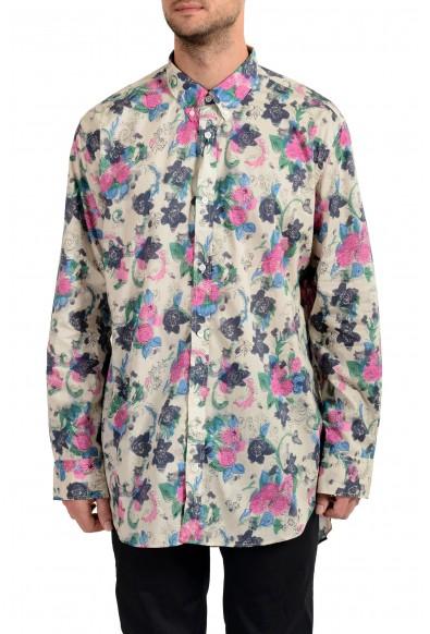 "Burberry Men's ""STRENTON"" Floral Print Long Sleeve Shirt"
