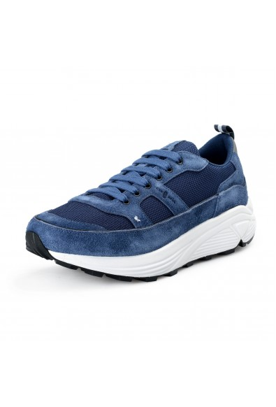 Car Shoe By Prada Men's Blue Suede Leather Fashion Sneakers Shoes