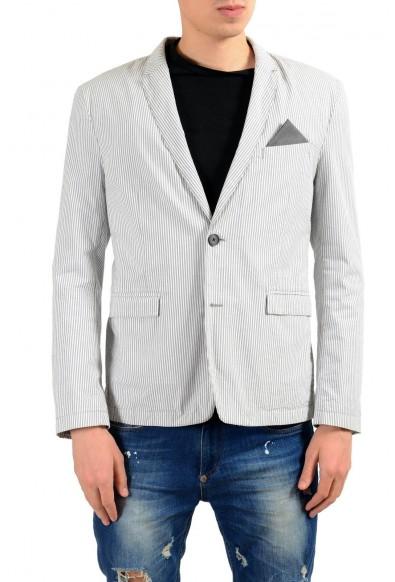 "Hugo Boss ""Bans_BS-W"" Multi-Color Striped Two Button Men's Blazer"