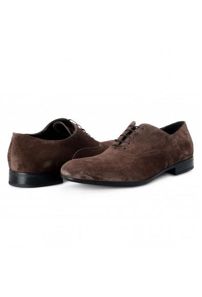 "Salvatore Ferragamo Men's ""Dunn"" Brown Suede Leather Oxfords Shoes: Picture 2"