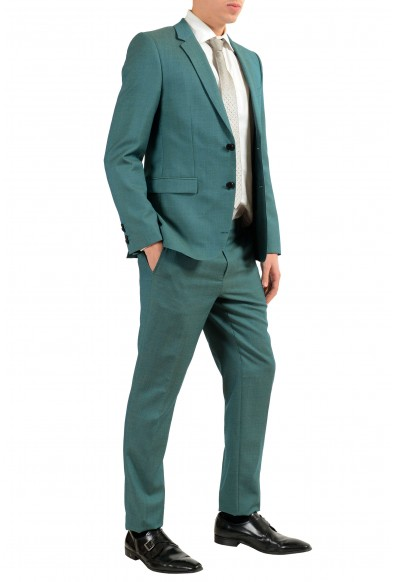 """Hugo Boss """"Astian/Hets"""" Men's 100% Wool Green Two Button Suit: Picture 2"""