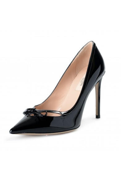 Valentino Women's Black Patent Leather High Heel Classic Pumps Shoes