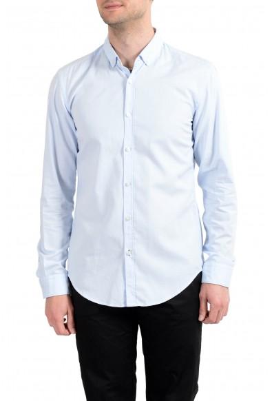 "Hugo Boss Men's ""Rikard_51"" Blue Slim Fit Long Sleeves Casual Shirt"
