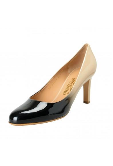 "Salvatore Ferragamo Women's ""LEO"" Leather High Heel Pumps Shoes"