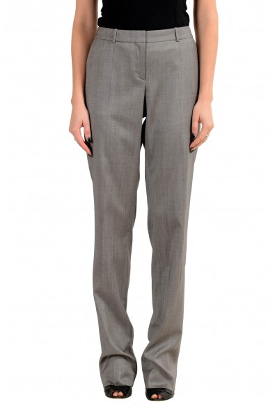 "Hugo Boss ""Tamea8"" Women's 100% Wool Gray Casual Pants"