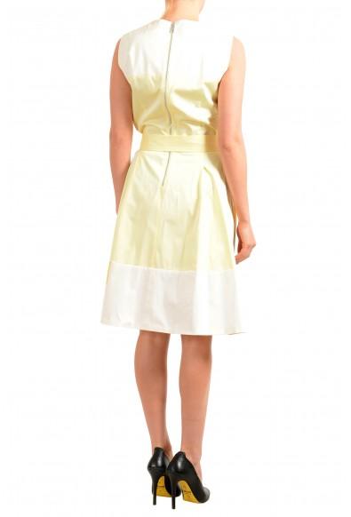 "Hugo Boss Women's ""Dadesa"" Yellow Belted Sleeveless Sundress Dress: Picture 2"