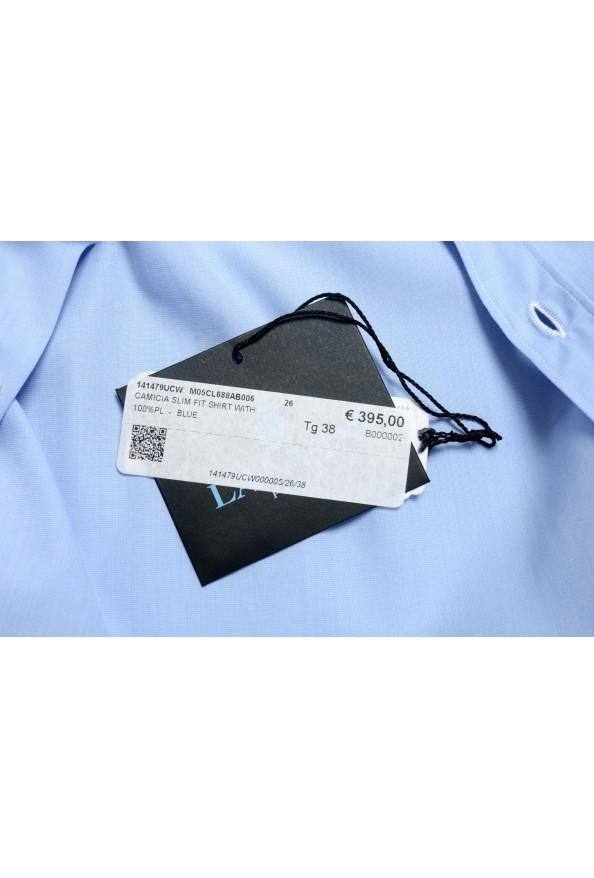 Lanvin Men's Light Blue Long Sleeve Dress Shirt: Picture 6