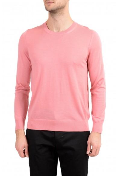 Burberry Men's 100% Wool Pink Crewneck Sweater