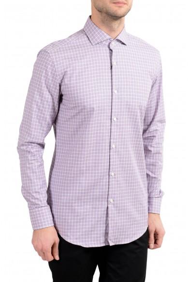 """Hugo Boss """"Jason"""" Men's Slim Plaid Long Sleeve Dress Shirt"""