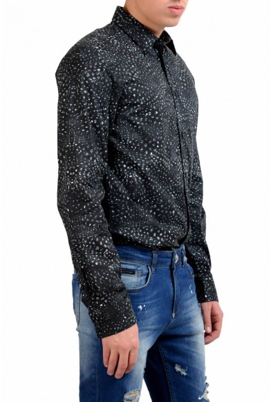Just Cavalli Men's Stretch Button-Front Print Casual Shirt: Picture 2