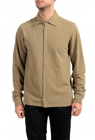 Malo Men's Brown Long Sleeve Casual Shirt