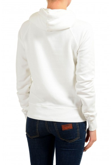 Dsquared2 Women's White Embroidered Hoodie: Picture 2