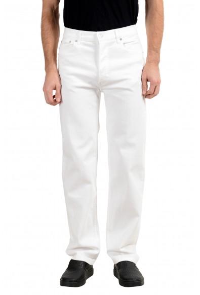 Burberry Men's White Stretch Straight Leg Jeans