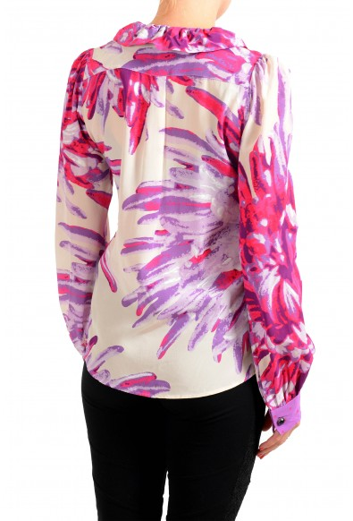 Just Cavalli Women's Multi-Color Floral 100% Silk Blouse Top : Picture 2
