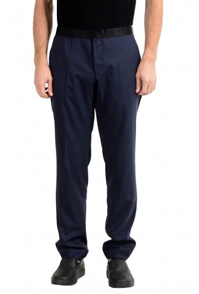 """Hugo Boss """"Helward1/Gelvin_1"""" Men's Wool Silk Slim Blue Dress Pants"""