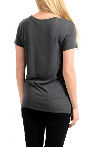 Emporio Armani Women's Stretch Gray Short Sleeve T-Shirt: Picture 2