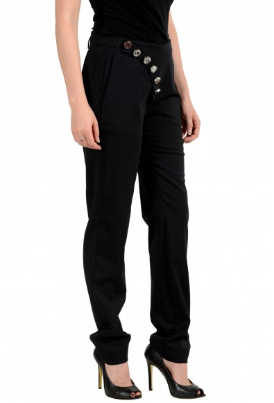 Versus By Versace Women's Black Wool Button Decorated Pants: Picture 2