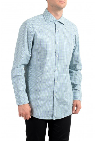 "Hugo Boss Men's ""Miles US"" Sharp Fit Plaid Long Sleeve Dress Shirt"