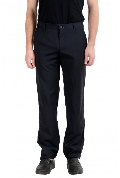 Dolce&Gabbana Men's 100% Wool Black Dress Pants