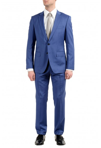 """Hugo Boss """"Huge5/Genius3"""" Men's 100% Wool Blue Two Button Suit"""
