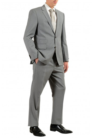 """Hugo Boss """"Kings/Central_1"""" Men's 100% Wool Gray Two Button Suit: Picture 2"""