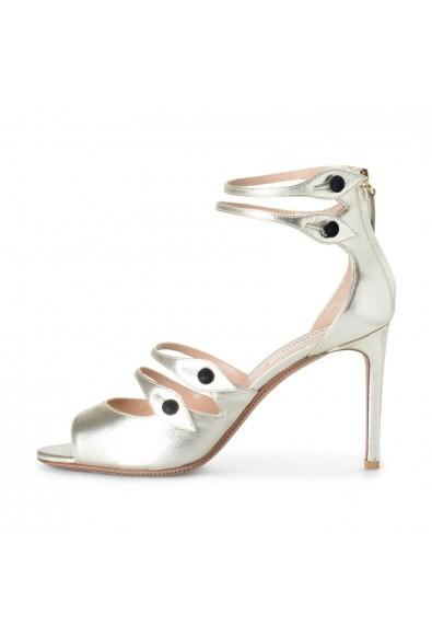 Valentino Garavani Women's Silver Leather High Heel Sandals Shoes: Picture 2