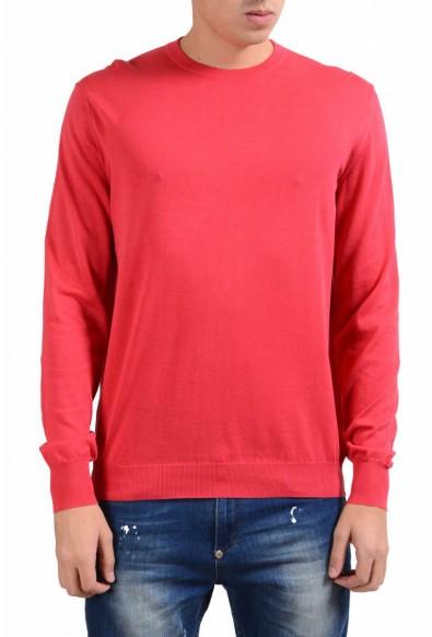 Malo Men's Rose Red Crewneck Light Pullover Sweater