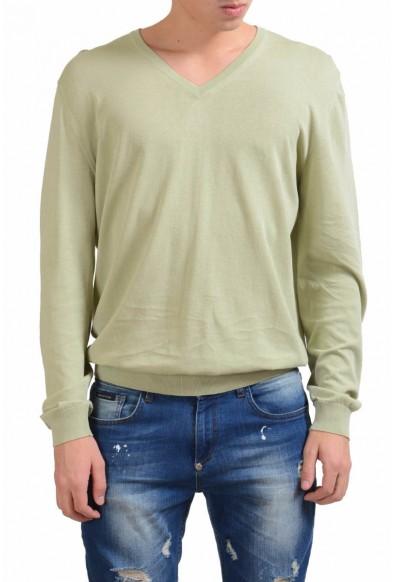 Malo Men's V-Neck Light Green Sweater