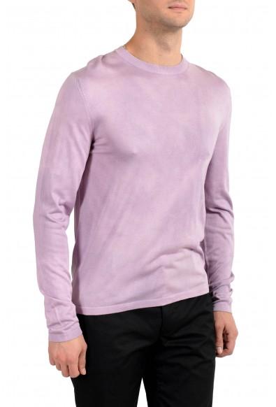 Versace Men's Purple 100% Silk Crewneck Pullover Sweater : Picture 2