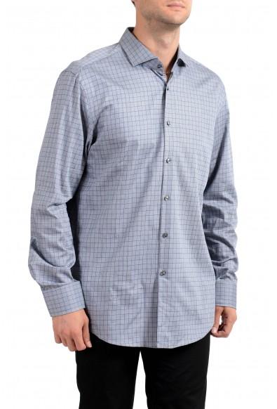 """Hugo Boss Men's """"Jasan"""" Slim Fit Plaid Long Sleeve Dress Shirt"""
