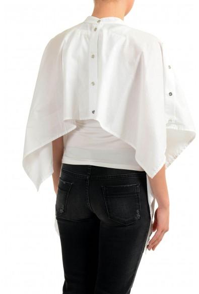 Maison Margiela MM6 Women's White Cape Look Asymmetrical Button Top: Picture 2