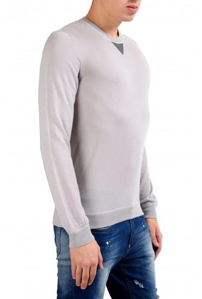 Malo 100% Cashmere Men's Light Pullover Gray Crewneck Sweater: Picture 2