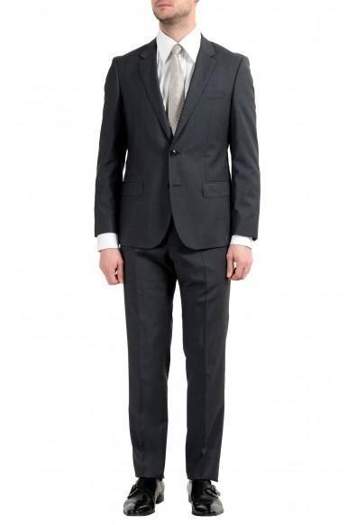 """Hugo Boss """"C-Huge1/C-Genius"""" Men's 100% Wool Dark Gray Two Button Suit"""