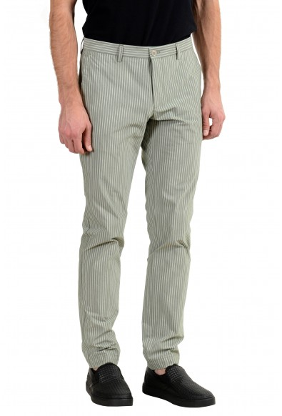 """Hugo Boss """"Stanino17-W"""" Men's Stretch Green Striped Casual Pants : Picture 2"""