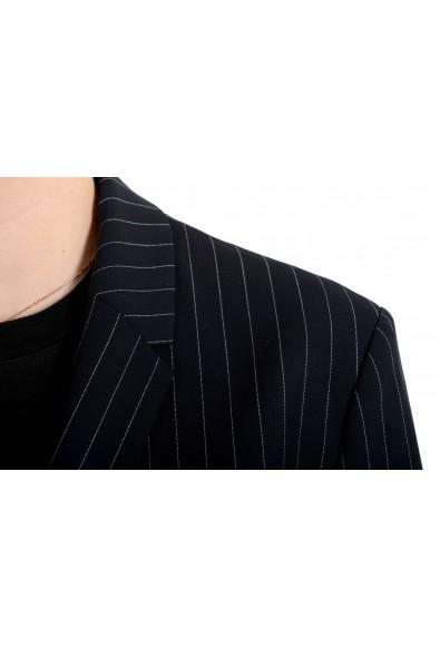 "Hugo Boss Women's ""Junka"" Blue Striped Two Button Blazer: Picture 2"