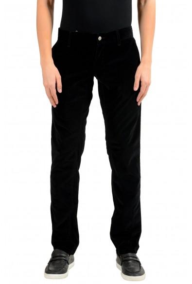 Dolce & Gabbana Men's Black Stretch Corduroy Casual Pants