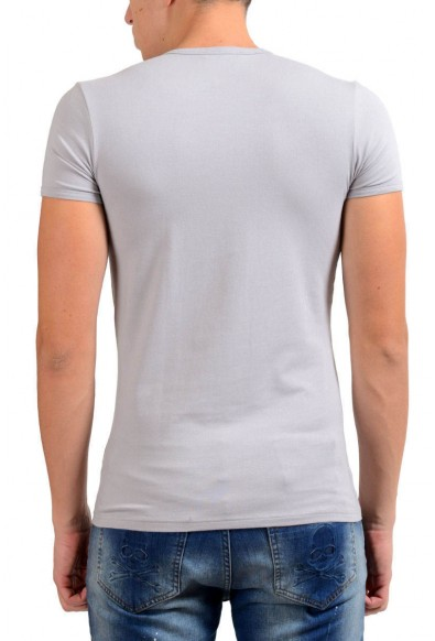 Versace Collection Men's Gray Stretch Crewneck Short Sleeve T-Shirt: Picture 2