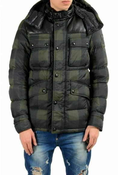 Belstaff Men's Duck Down Full Zip Hooded Parka Jacket