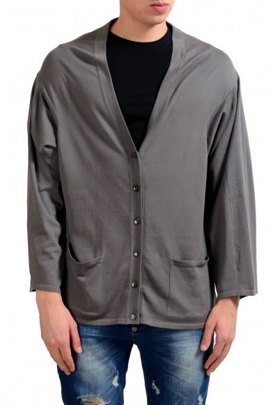 Malo Men's Gray Oversized Light Cardigan Sweater
