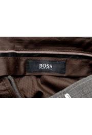 "Hugo Boss ""Genesis3"" Men's 100% Wool Gray Plaid Dress Pants : Picture 4"