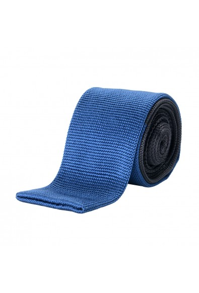 Hugo Boss Men's Two-tone 100% Silk Knitted Square End Tie