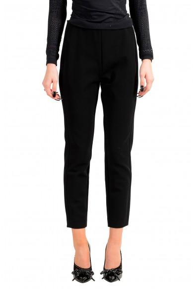 "Hugo Boss Women's ""Attrira"" Black Cropped Casual Pants"