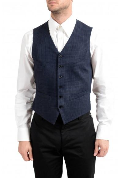 John Varvatos Men's Linen Wool Button Up Vest