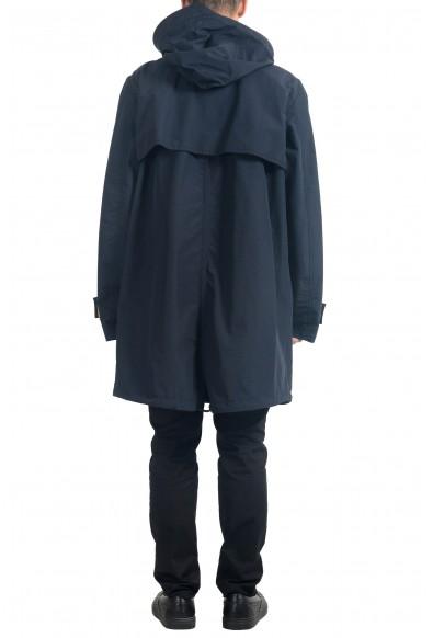 """Hugo Boss Men's """"Urain"""" Blue Hooded Water-Repellent Rain Coat : Picture 2"""