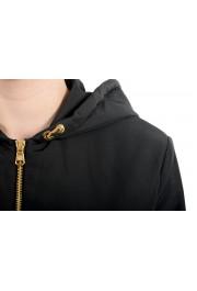 Versace Women's Black Zip Up Hooded Bomber Jacket : Picture 6